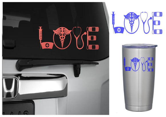 Nurse Love Decal