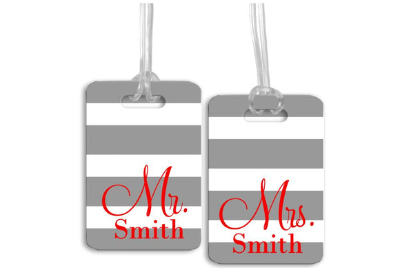 Mr. and Mrs. Luggage Tags, Wedding Luggage Tags