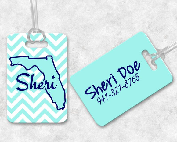 Custom Luggage Tags, Monogram Luggage Tag