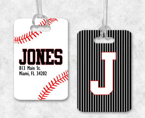 Baseball Bag Tag, Sports Bag Tags