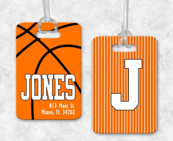 Basketball Bag Tag, Sports Bag Tags