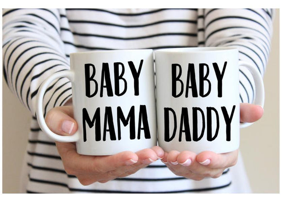 Baby Mama Baby Daddy Coffee Mug Set