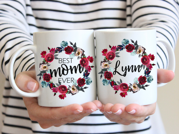 Best Mom Ever, Personalized Mug