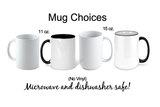 Coffee Scrubs and Rubber Gloves, Personalized Nurse Mug