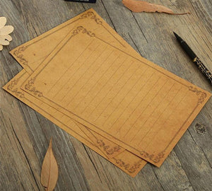 Aged Quill Paper 8 Sheets