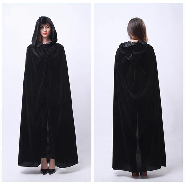 Long Hooded Witch Cloak