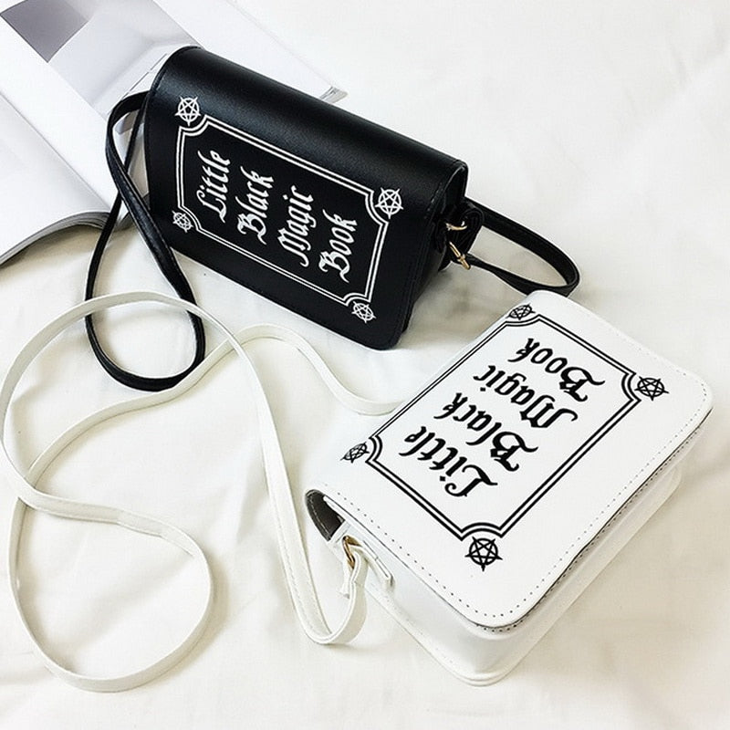 Little Black Magic Book Clutch Purse