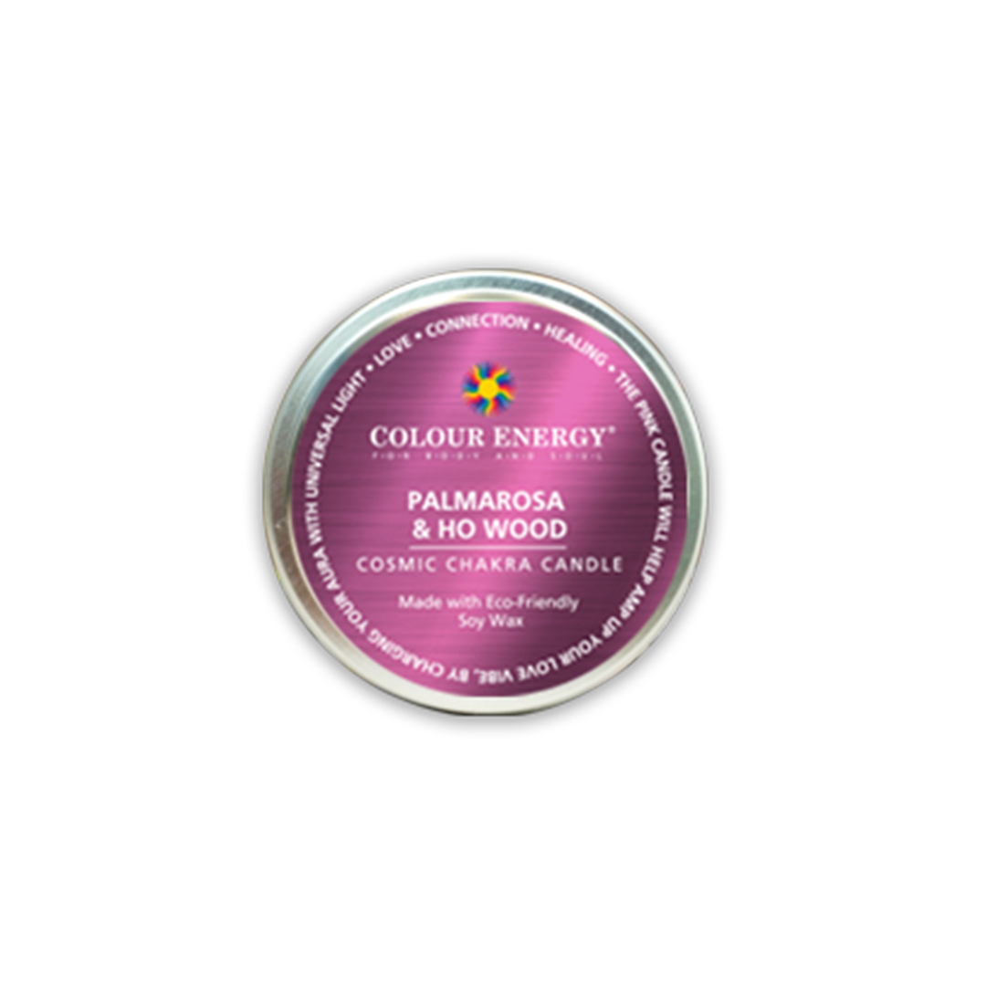 Pink Soy Candle with Palmarosa & Ho Wood