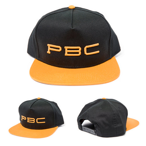 Black & Yellow Flat Bill Snapback