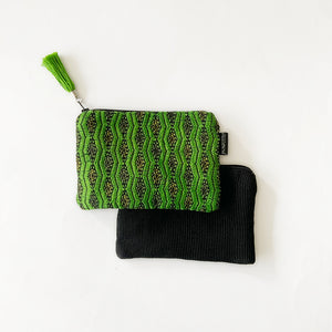 Second-life Pouch Almolonga, Small, Gree/Black