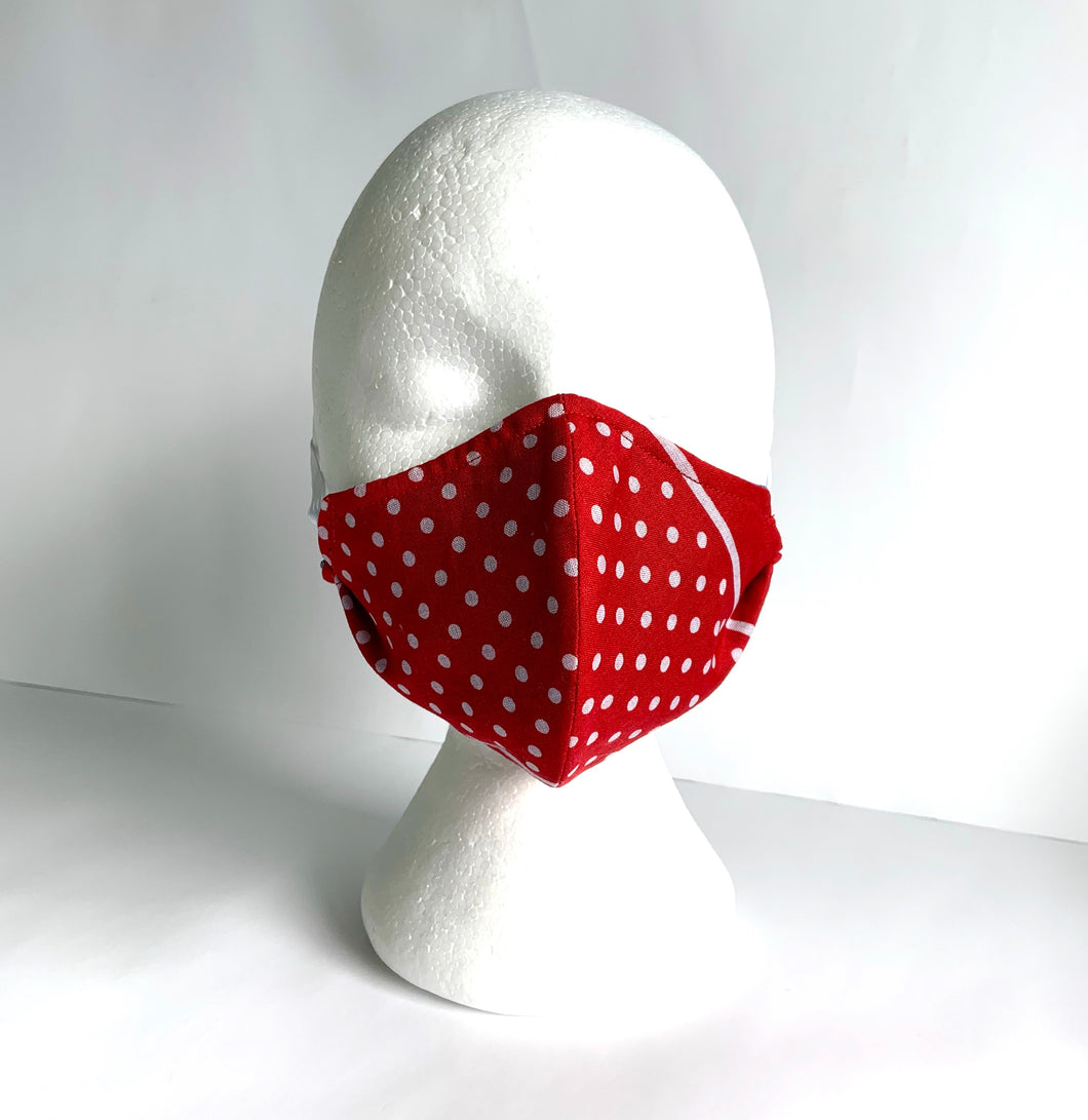 Bandana Mask, Polka Dot, Red