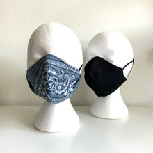 Load image into Gallery viewer, Classic Bandana Mask, Light Grey