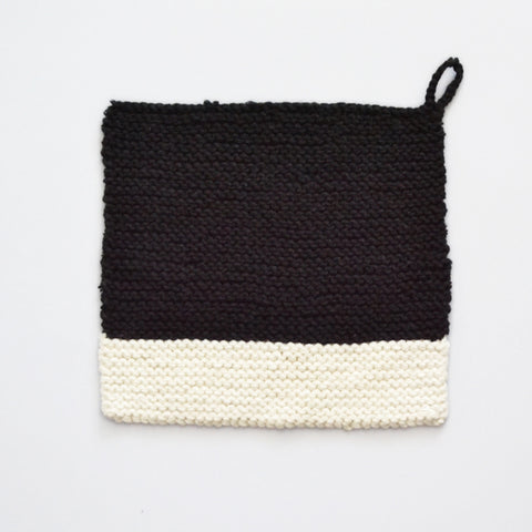 Colour Chip Pot Holder/Dish Cloth, Black