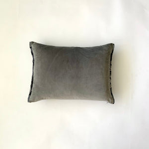 Huipil Cushion Cover, Velvet, Grey