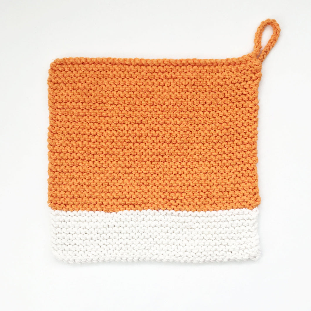 Colour Chip Pot Holder/Dish Cloth, Orange