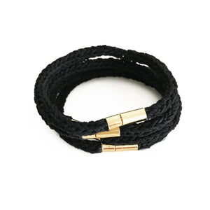 Aroma Therapy Bracelet, Energizing, Black & Antique Gold