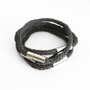 Aroma Therapy Bracelet, Relaxingng, Grey & Silver