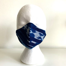 Load image into Gallery viewer, Jaspé Mask, Indigo Stripes/Denim