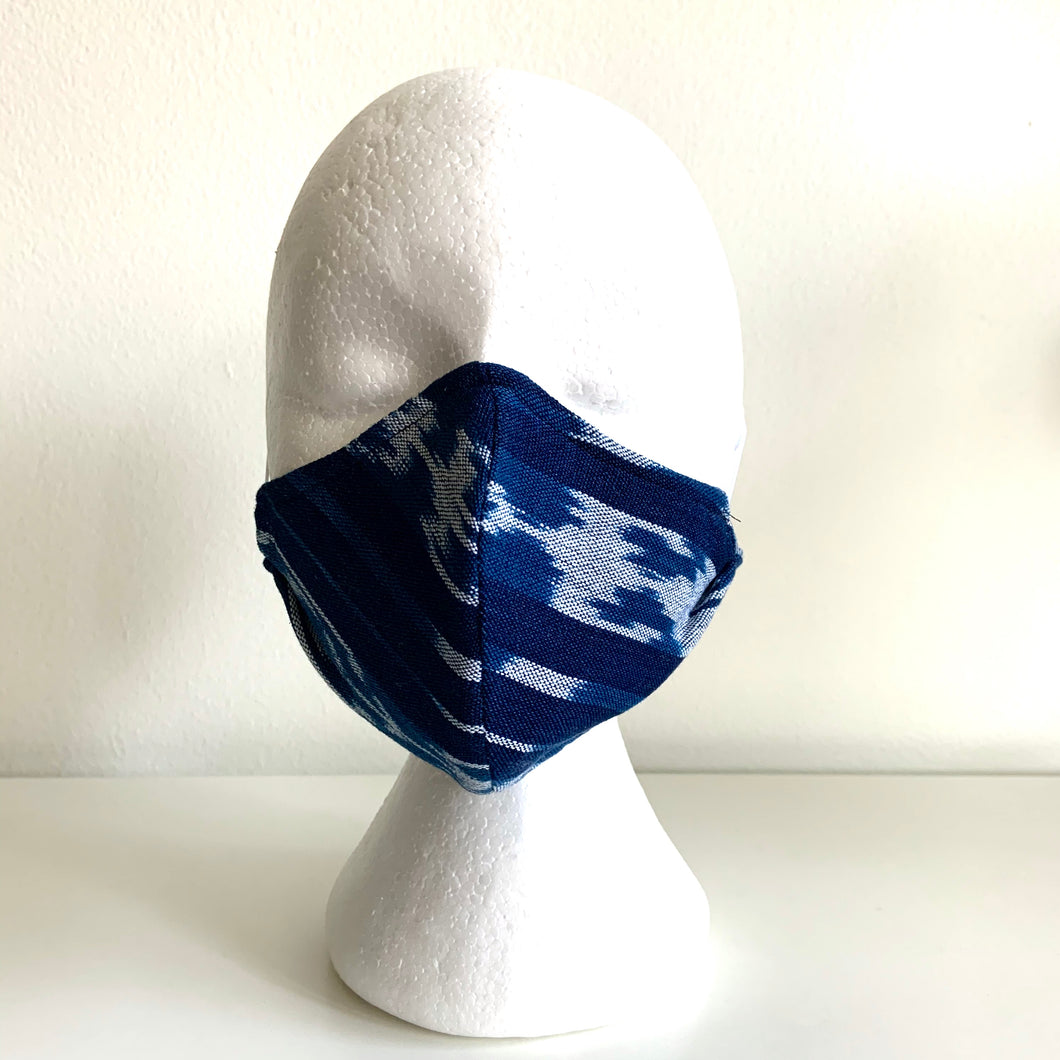 Jaspé Mask, Indigo Stripes/Denim