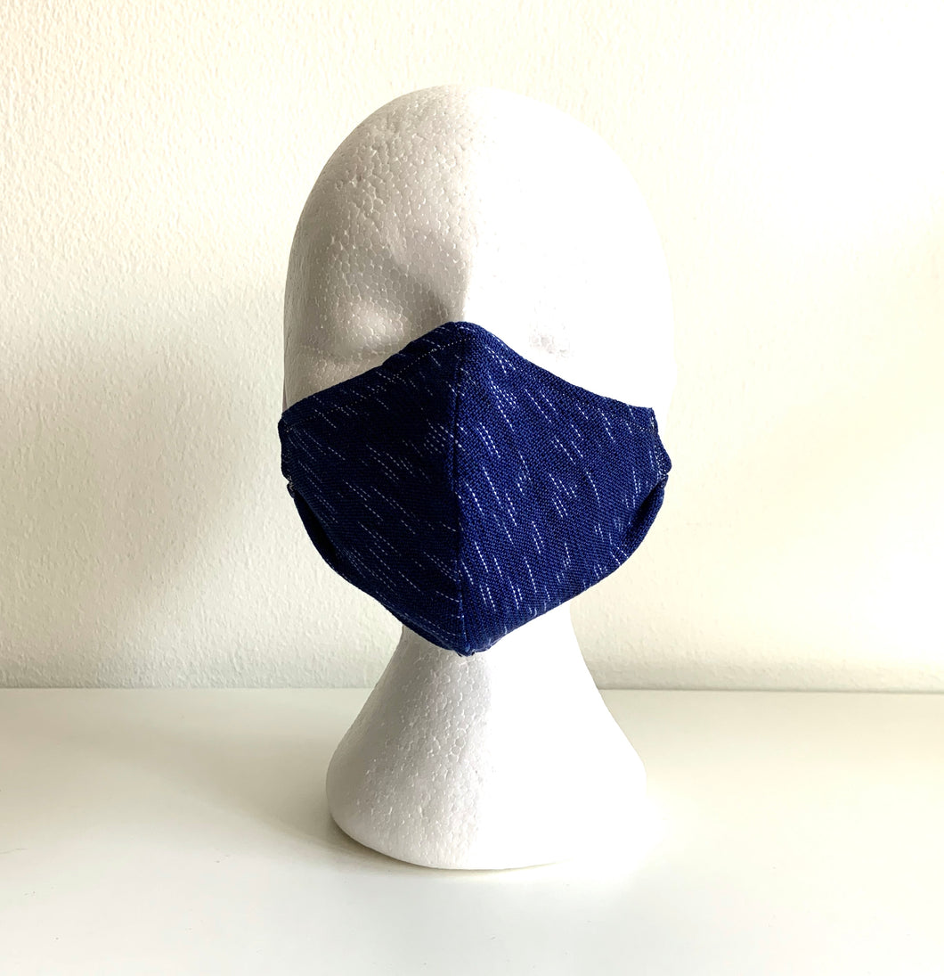 Jaspé Mask, Royal Blue
