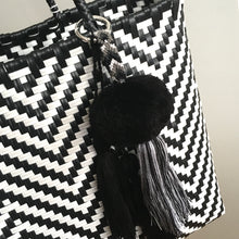 Load image into Gallery viewer, Graphic Market Bag, Black Chevron Weave
