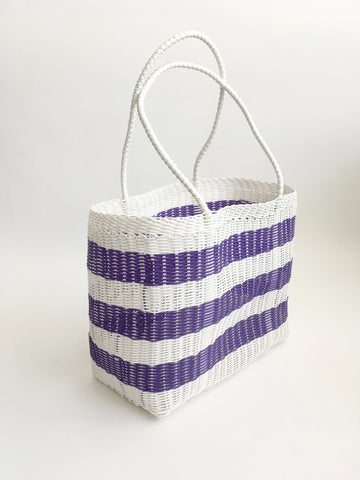 Classic Market Bag, Purple Stripe