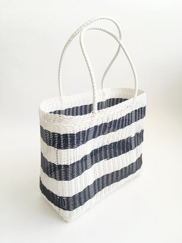 Classic Market Bag, Black Stripe