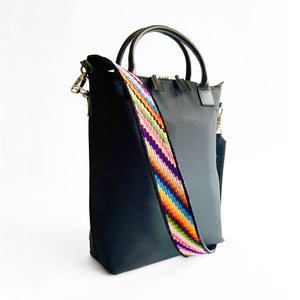 Second-life Bag Strap, Multicoloured Stripes