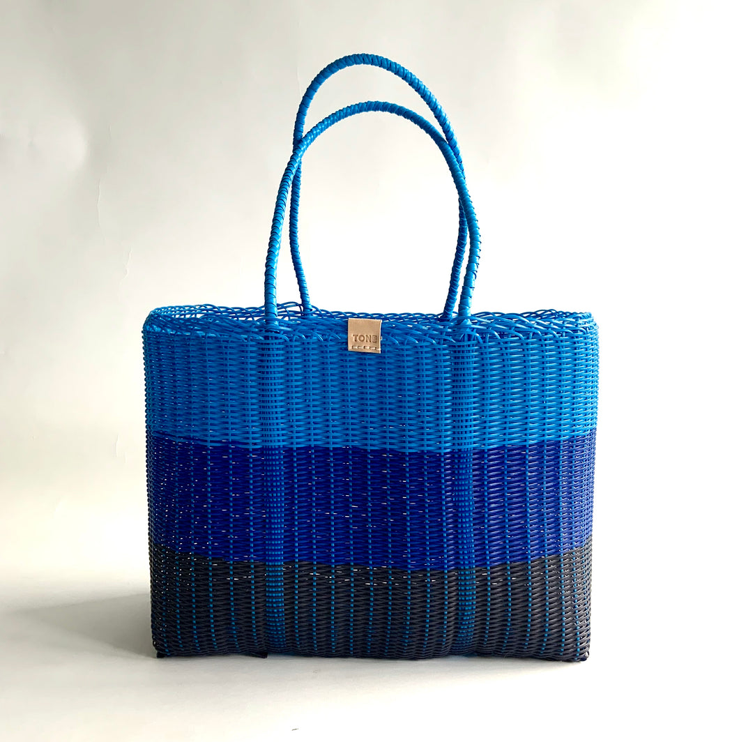 Classic Market Bag, Ombré, Navy, Royal & Sky Blue