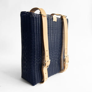 Convertible BackPack, Navy Blue, Leather Straps