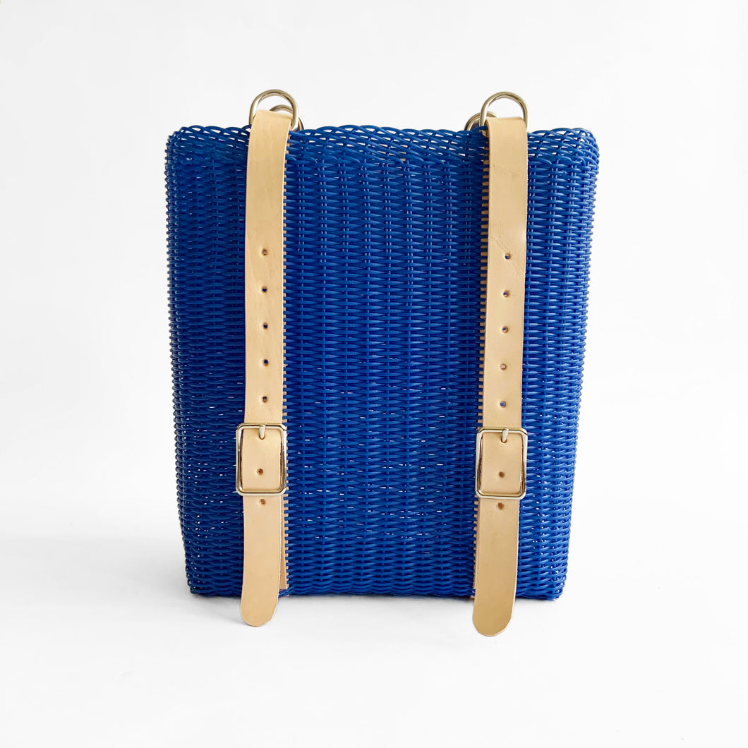 Convertible BackPack, Royal Blue, Leather Straps
