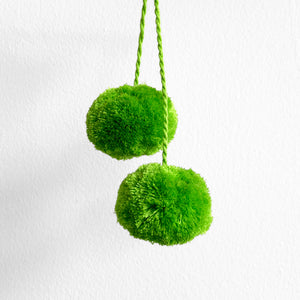 Pompom Pair, Lime Green