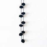 Pompom Necklace, Black