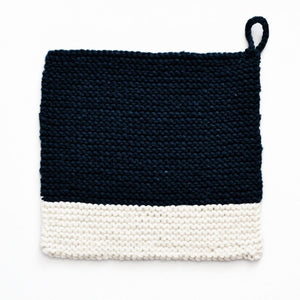 Colour Chip Pot Holder/Dish Cloth, Navy