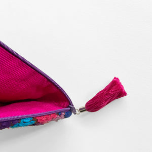 Second-life Pouch SPS Small, Plum/Fuchsia