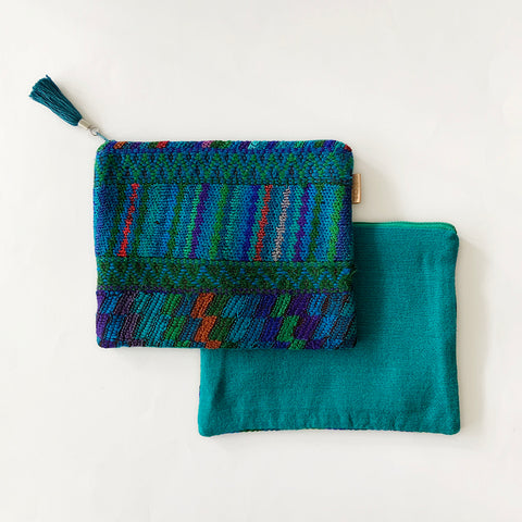 Second-life Pouch SPC, Medium, Jade/Teal