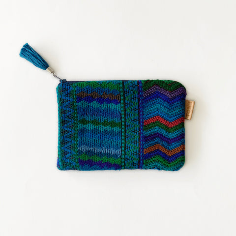 Second-life Pouch SPC Small, Blue/Turquoise