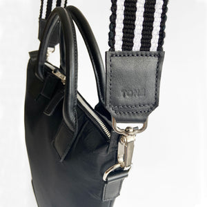 Premium Bag Strap, Black & White