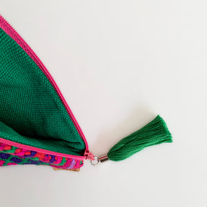 Second-life Pouch SMJ, Small, Pink/Green