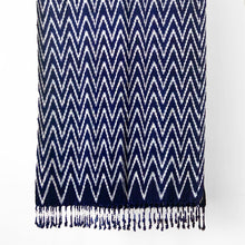 Load image into Gallery viewer, Jaspé Shawl, Chevron, Indigo