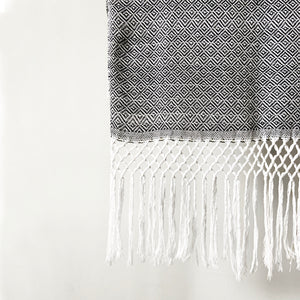 Geometric Shawl, Black & White