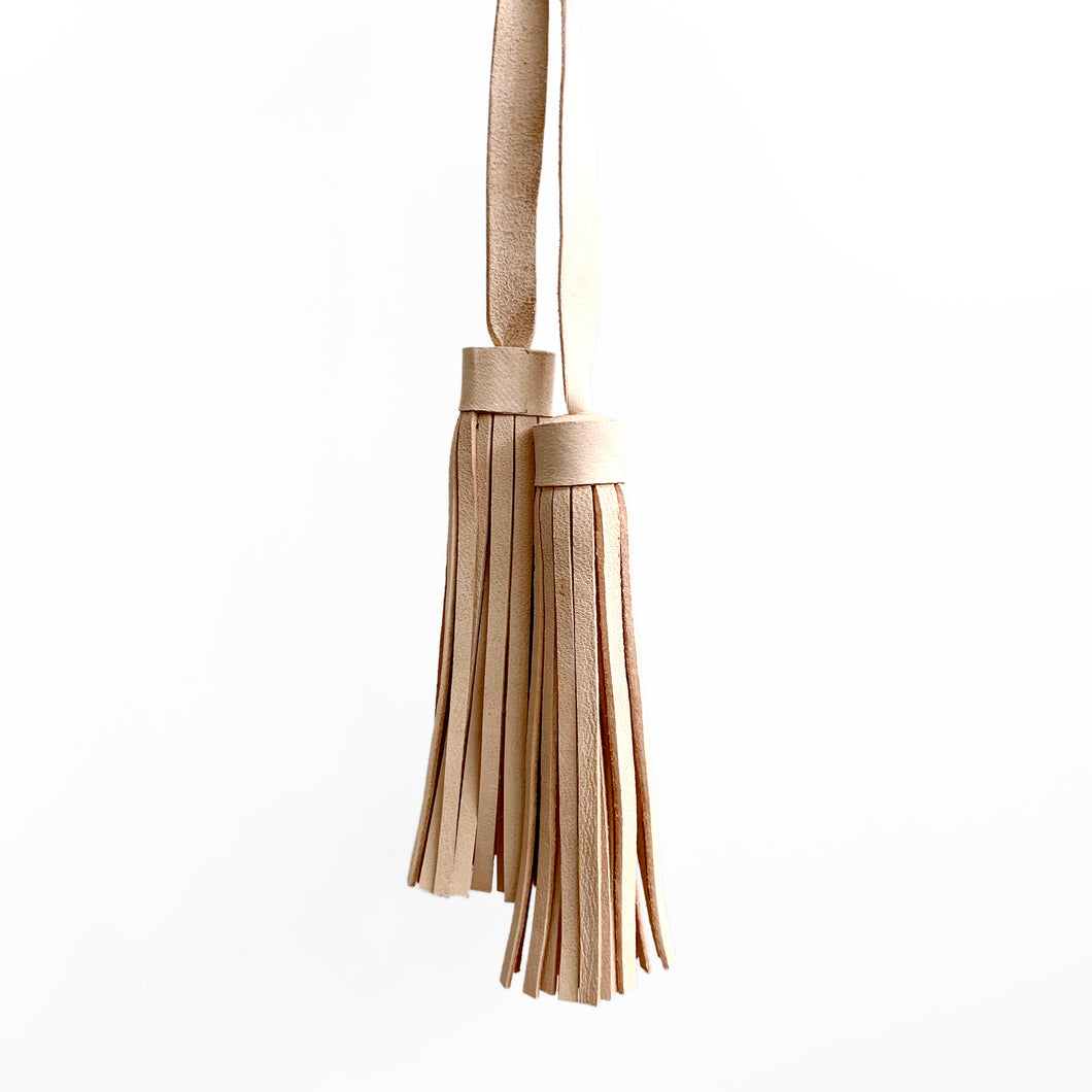Tassel Pair, Natural Leather