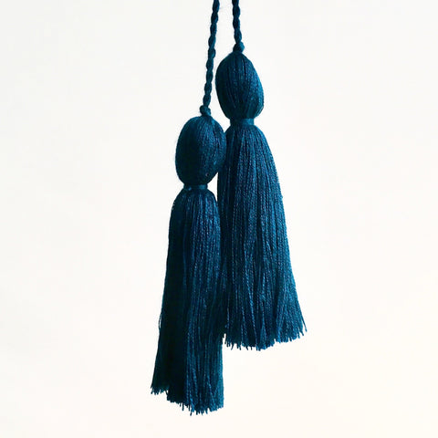 Tassel Pair, Dark Teal