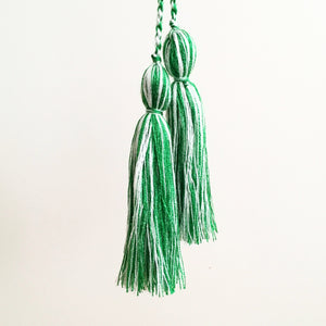 Tassel Pair, Green Mix