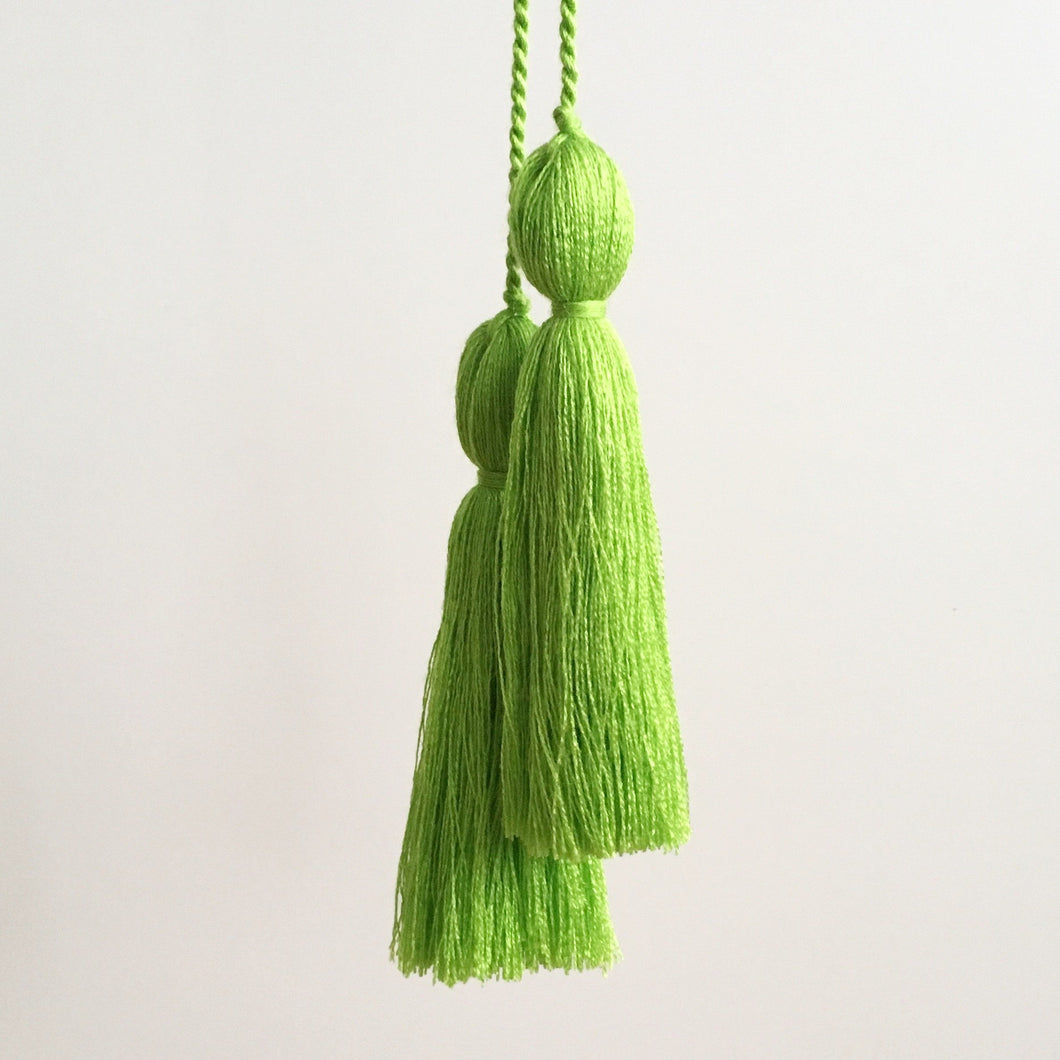 Tassel Pair, Lime Green