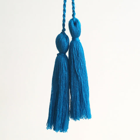 Tassel Pair, Teal