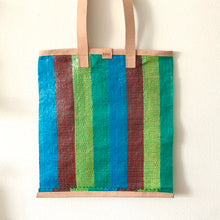 Load image into Gallery viewer, Essential Tote, Grean, Blue & Teal, Natural