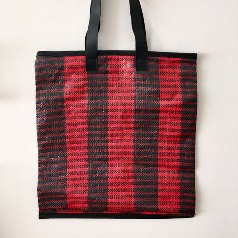 Essential Tote, Black & Red