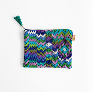 Second-life Pouch Toto, Medium, Multi/Blue, Teal