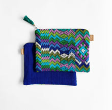 Load image into Gallery viewer, Second-life Pouch Toto, Medium, Multi/Blue, Teal